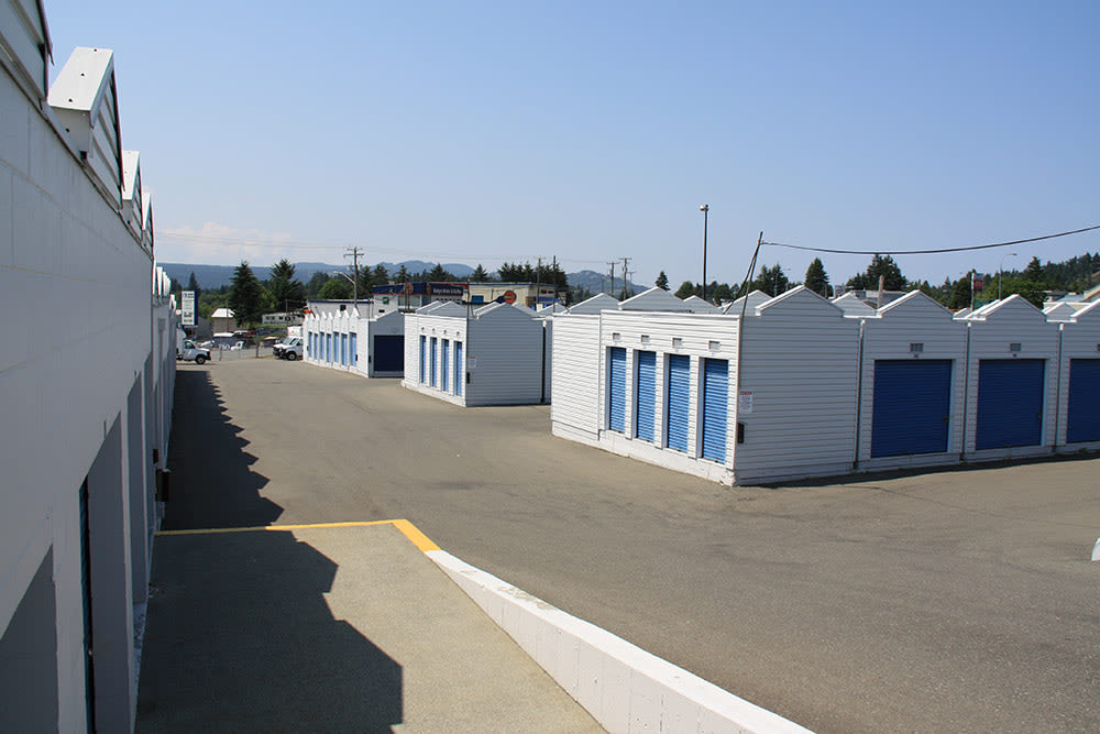 View of external storage at Budget Self Storage