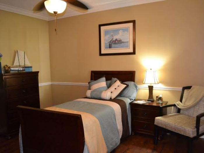 Beautiful bedroom at Pacifica Senior Living Fort Myers