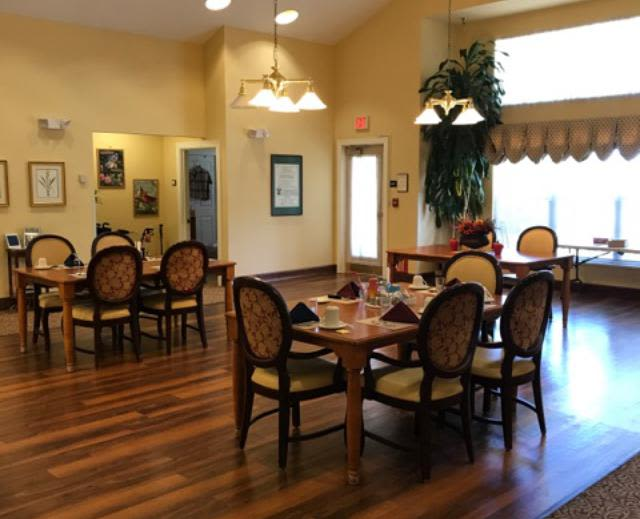 Spacious living room at Pacifica Senior Living Hemet in Hemet, CA