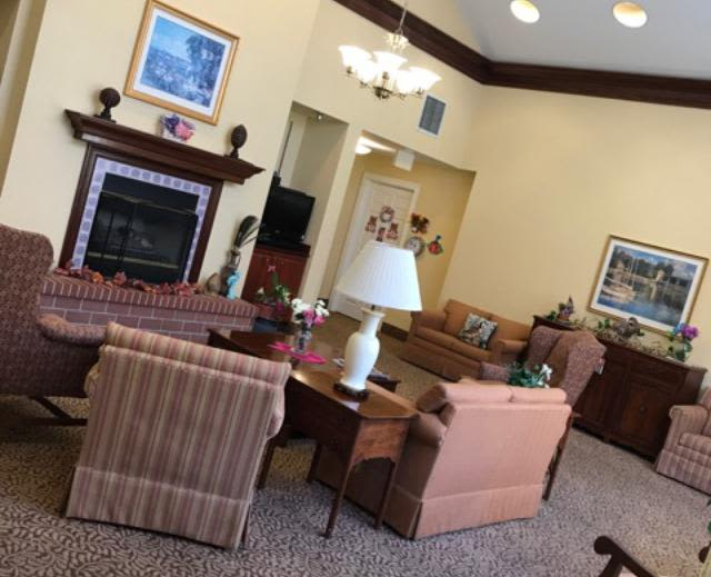 Living room at Pacifica Senior Living Hemet