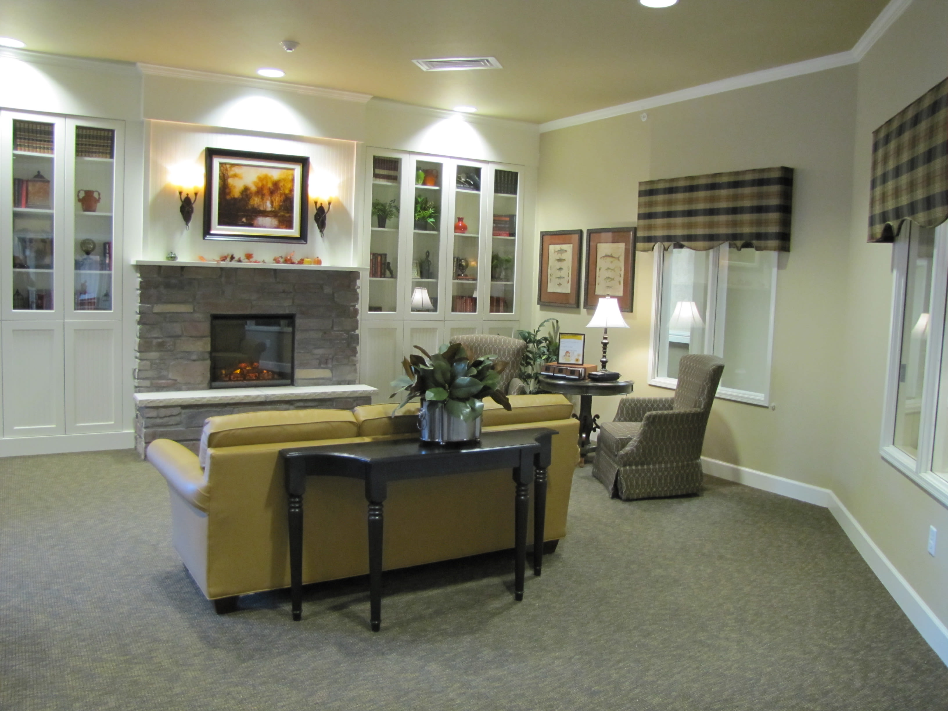 Enjoy a beautiful living room at Edgemont Place Alzheimer's Special Care Center