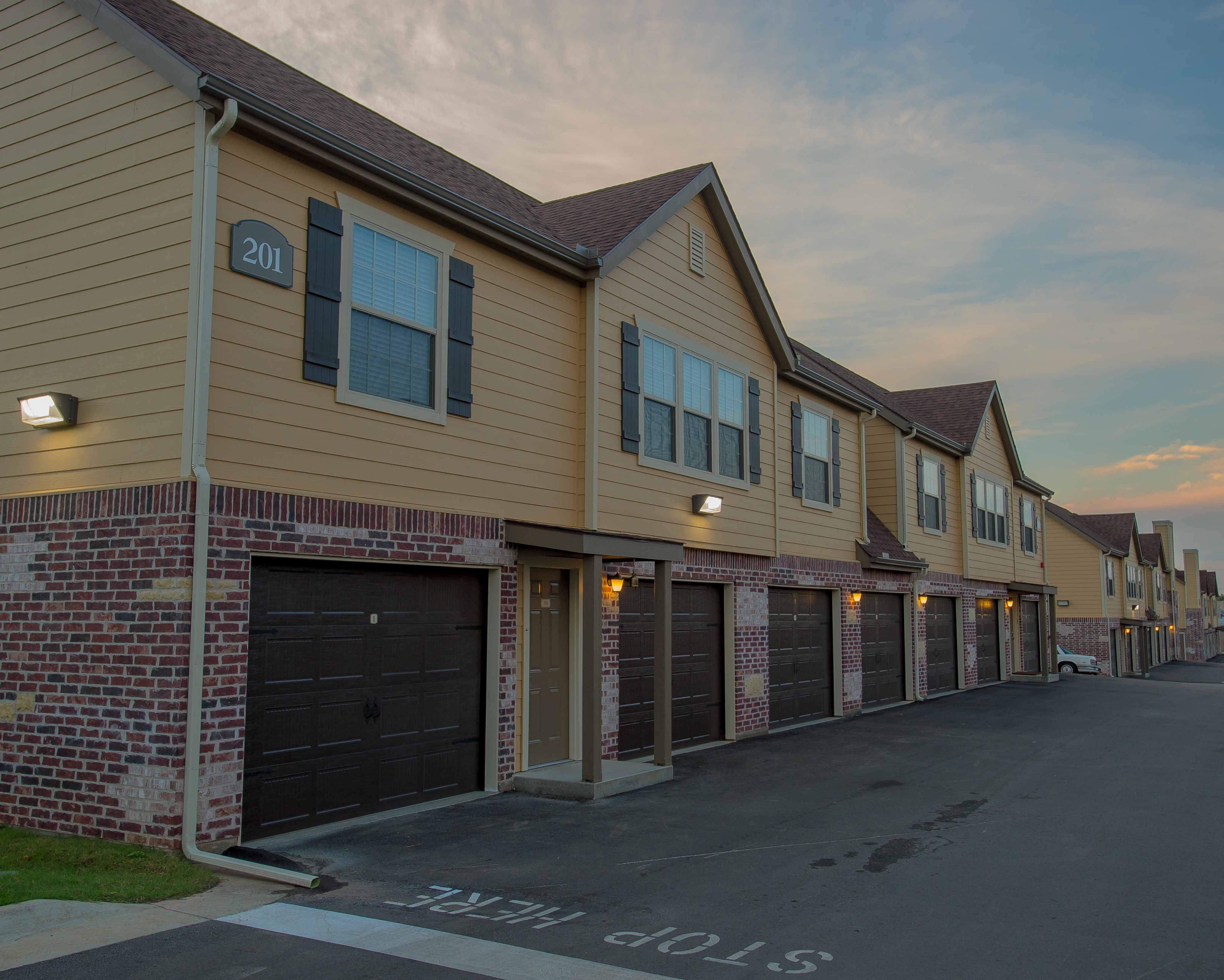 Garage parking in Watercress Apartments in Maize