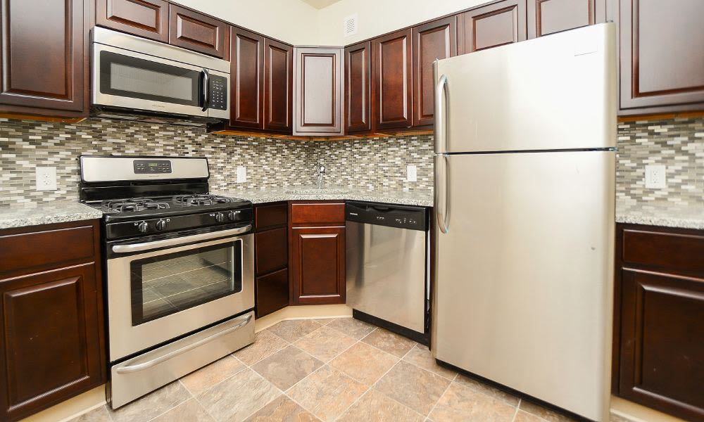 Beautiful kitchen at South Street Apartment Homes in Morristown, NJ