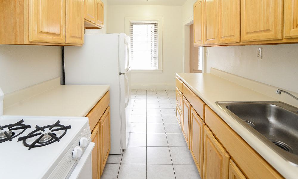 Kitchen at St. Lukes Place Apartment Homes in Montclair, NJ