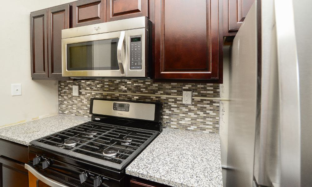 Beautiful kitchen at St. Lukes Place Apartment Homes in Montclair, NJ