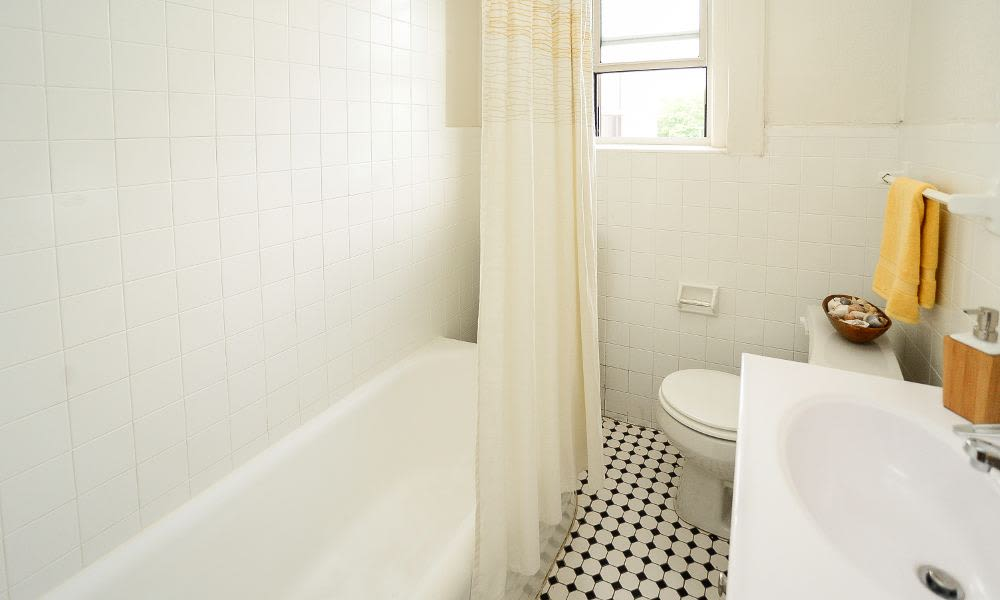 Beautiful bathroom at St. Lukes Place Apartment Homes in Montclair, NJ