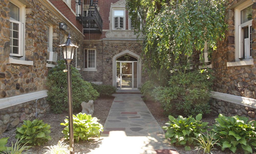 Beautiful entryway at St. Lukes Place Apartment Homes in Montclair, NJ