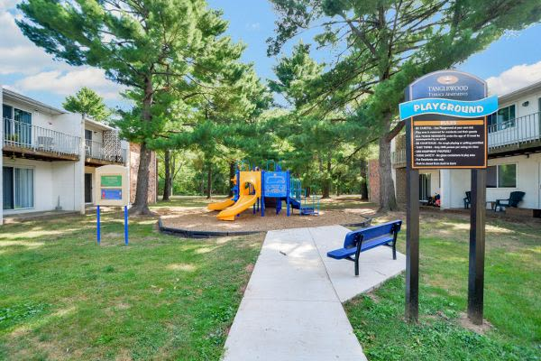 Spacious playground at Tanglewood Terrace Apartment Homes in Piscataway, NJ