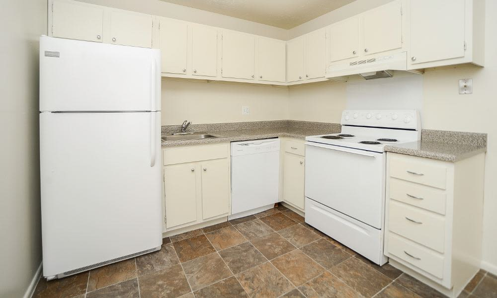 Kitchen at Westwood Gardens Apartment Homes in Thorofare, NJ