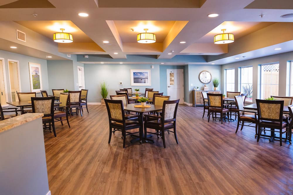 Dinning room at Mukilteo Memory Care