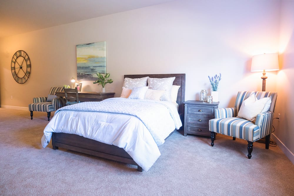 Bedroom at Mukilteo Memory Care