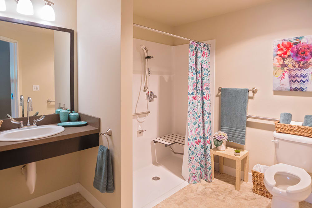 Bathroom at Mukilteo Memory Care