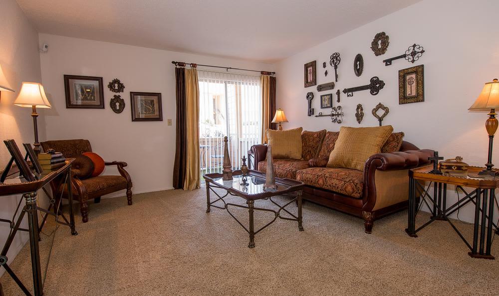 Living room at Windsail Apartments