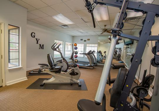 Keep fit in our well equipped fitness center in Council Place Apartments