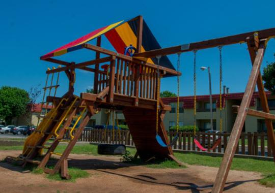 Kids can enjoy at the playground in Council Place Apartments, Oklahoma City