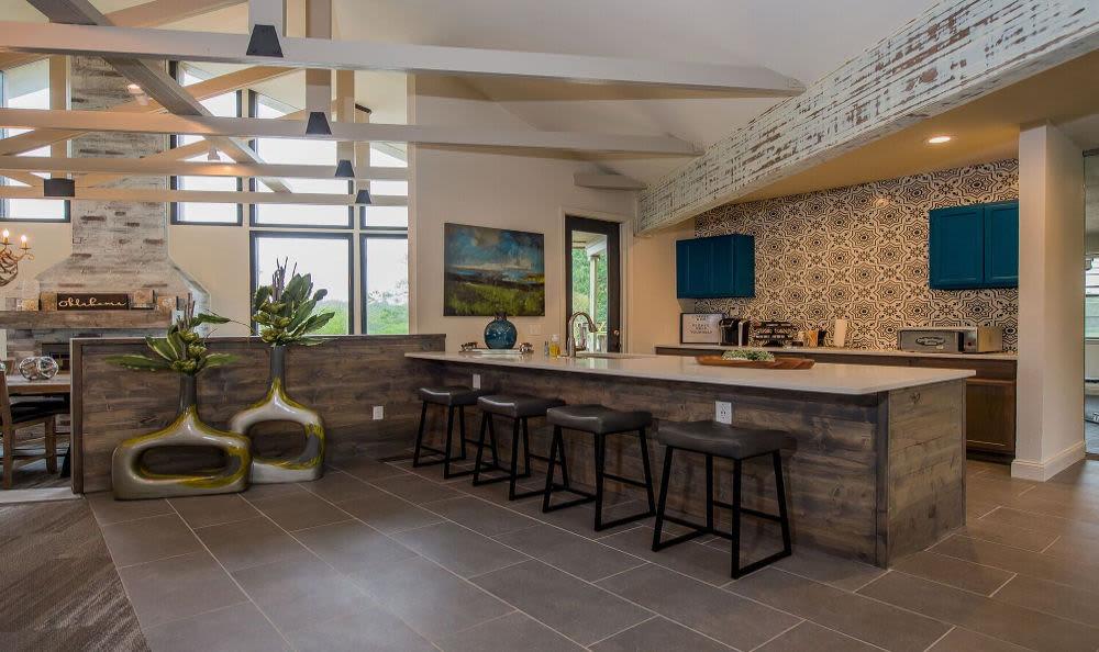 Renovated kitchen at Waters Edge in Oklahoma City, Oklahoma