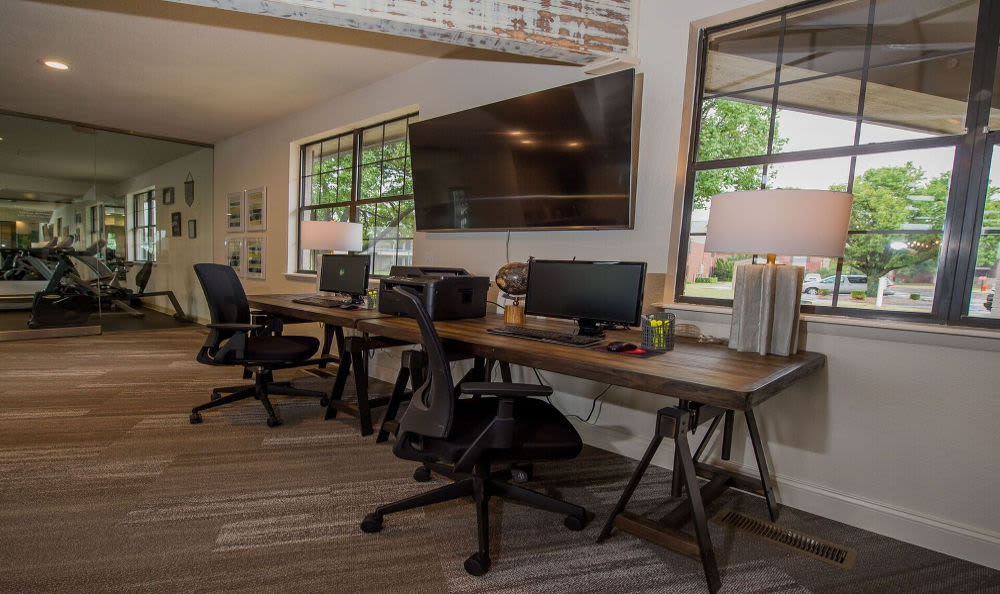 Computer spaces at Waters Edge in Oklahoma City