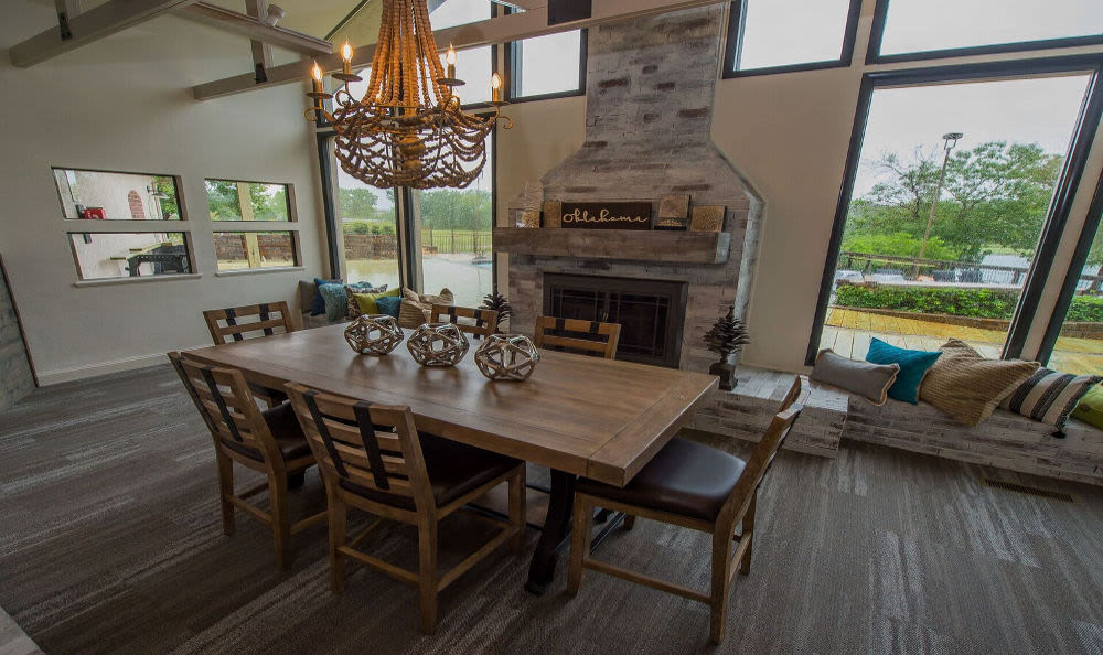 Luxury dining room in Oklahoma City