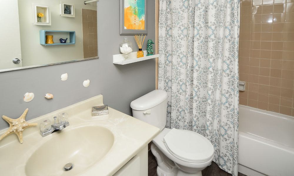 Bathroom at Columbia Pointe Apartment Homes in Columbia, MD