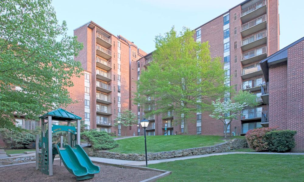 Beautiful playground at Columbia Pointe Apartment Homes in Columbia, MD