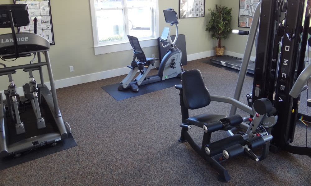 Beautiful fitness center at Heather Park Apartment Homes in Garner, NC