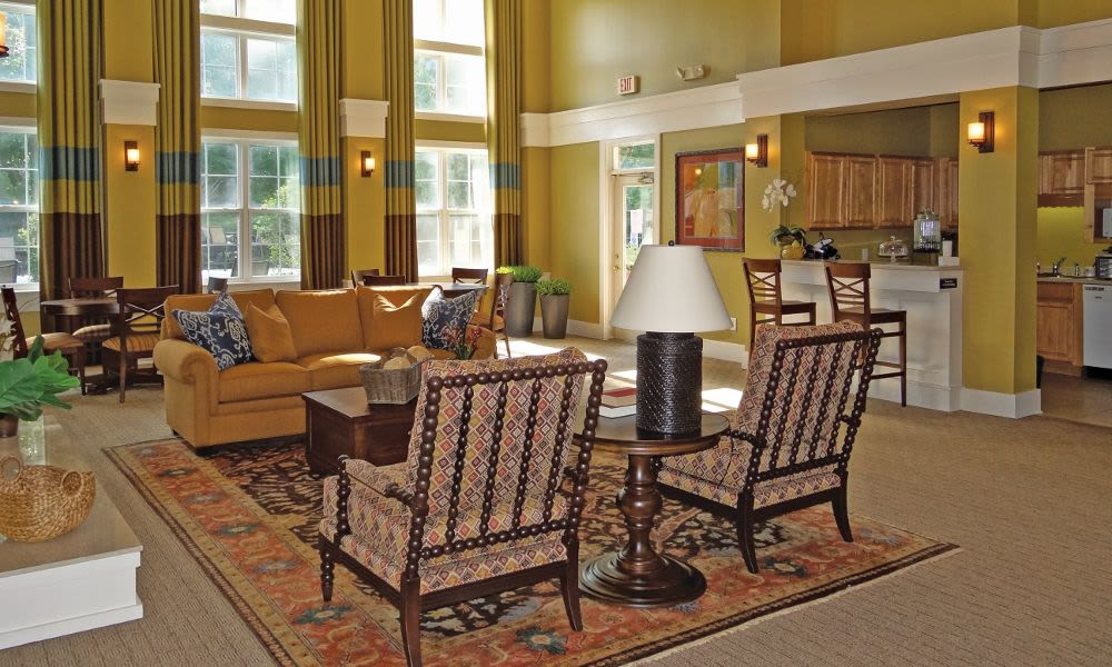 Luxury clubhouse at Heather Park Apartment Homes in Garner, NC