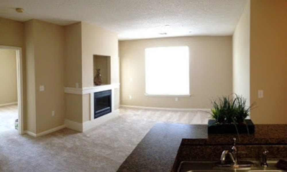 Spacious living room at Heather Park Apartment Homes in Garner, NC