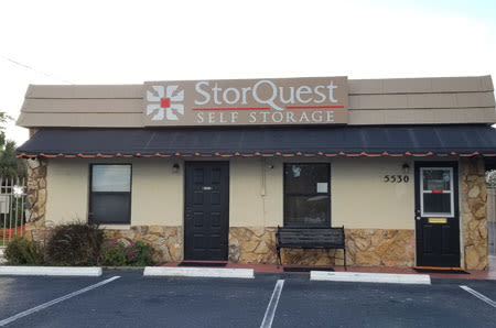 Front of Leasing Office at StorQuest Self Storage in Sarasota