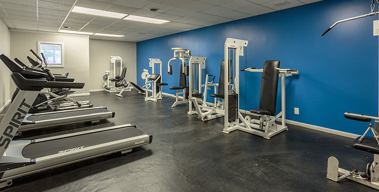 Fitness center at Highland Club