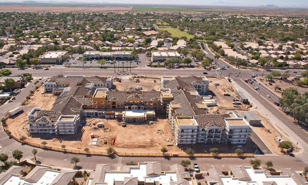 Campus view at The Enclave at Chandler Senior Living