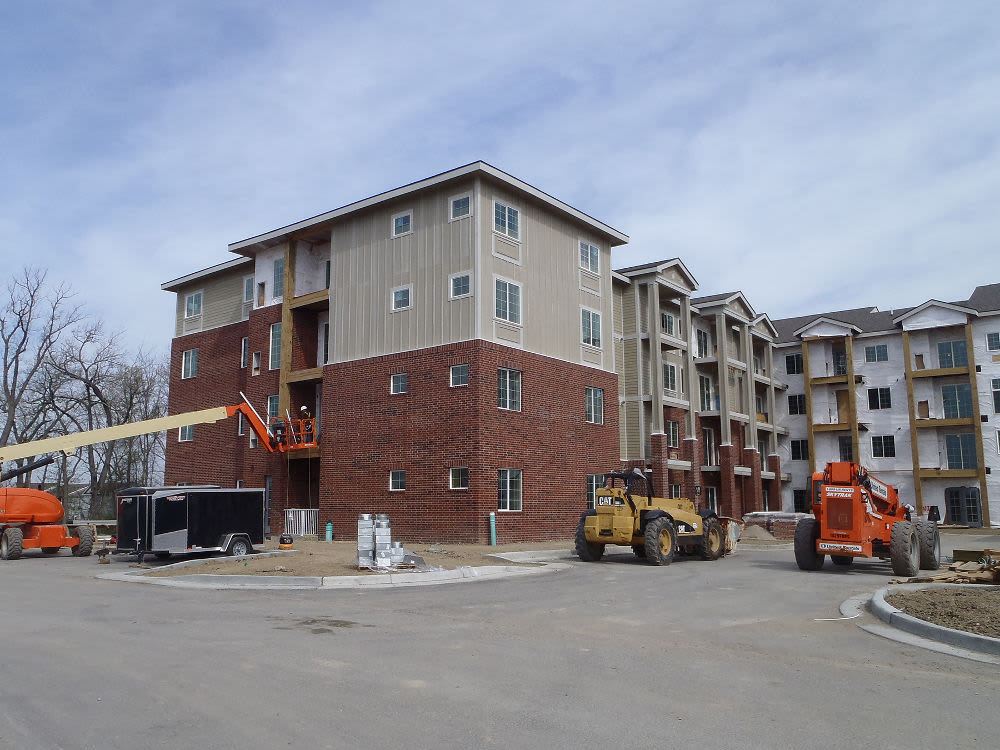 Apartments with a spacious entryway at The Enclave Senior Living at Saxony