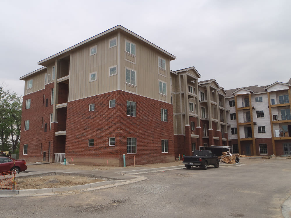 Enjoy apartments with a renovated entryway at The Enclave Senior Living at Saxony