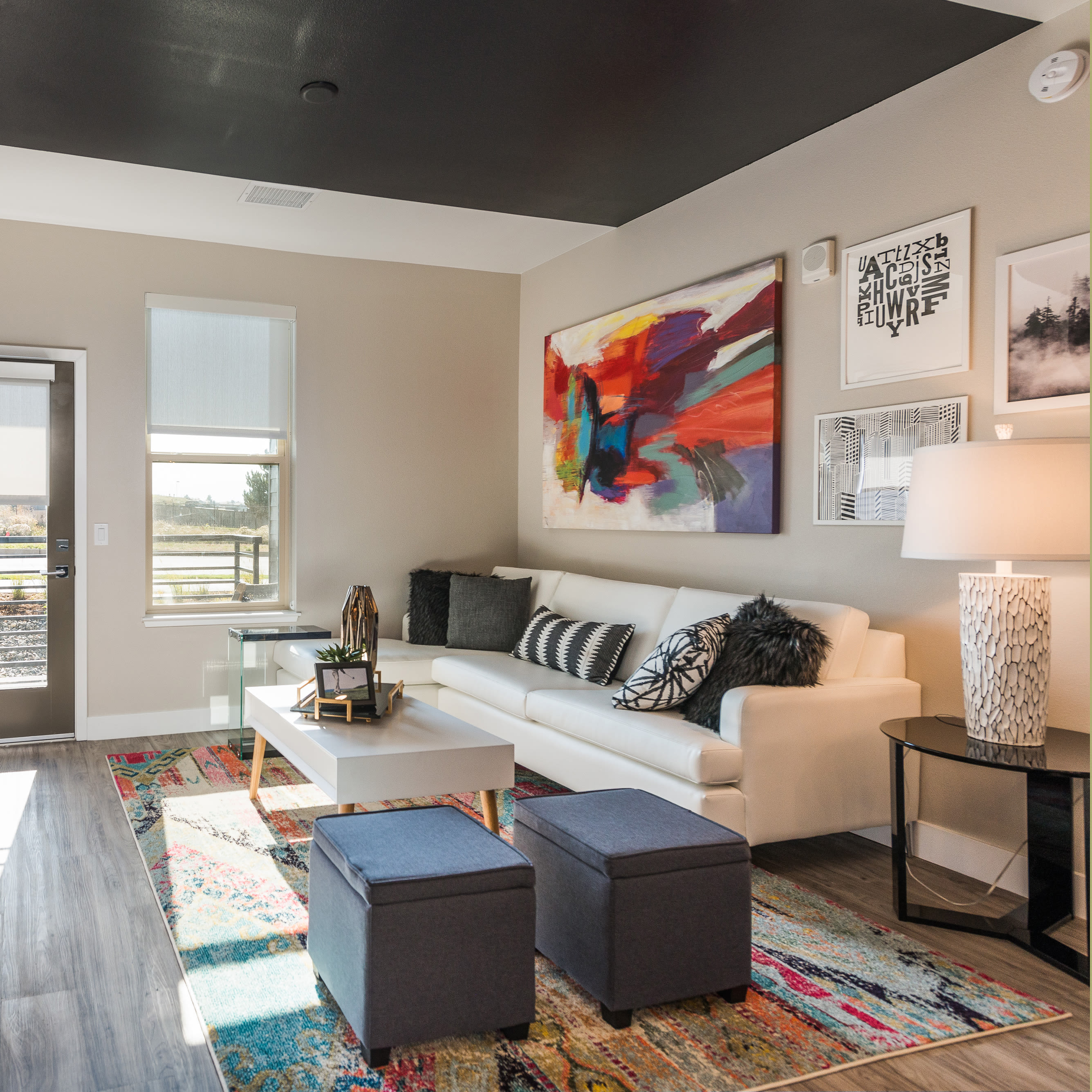 Upscale Living Room at Solana Lucent Station in Highlands Ranch