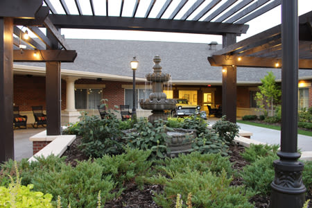 Beautifully landscaped property at Waverly Inn
