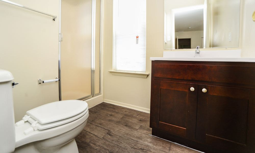 Beautiful bathroom at Fox Run Apartments & Townhomes in Bear, DE