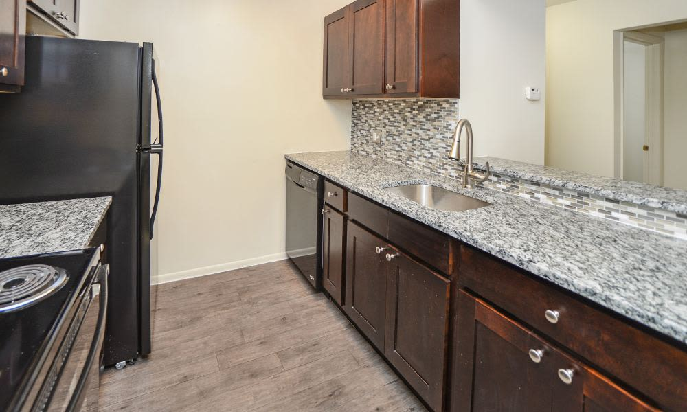 Luxury kitchen at Fox Run Apartments & Townhomes in Bear, DE