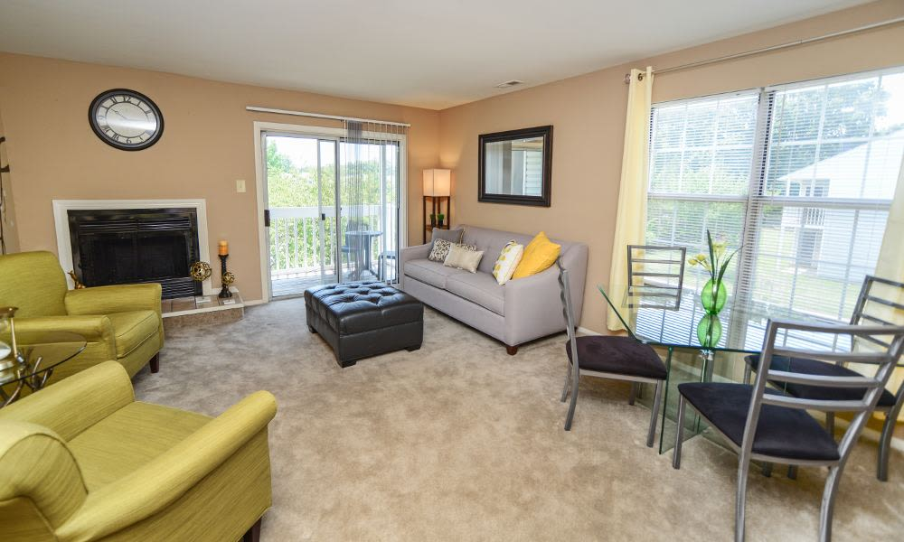 Luxury living room at Fox Run Apartments & Townhomes in Bear, DE