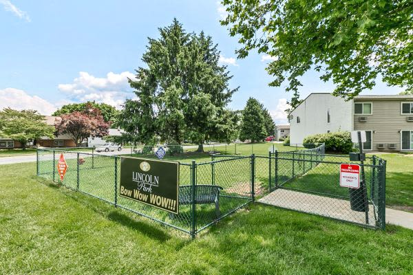 Dog park at Lincoln Park Apartments & Townhomes in West Lawn, PA