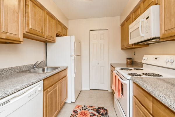 Spacious kitchen at apartments in West Lawn, PA
