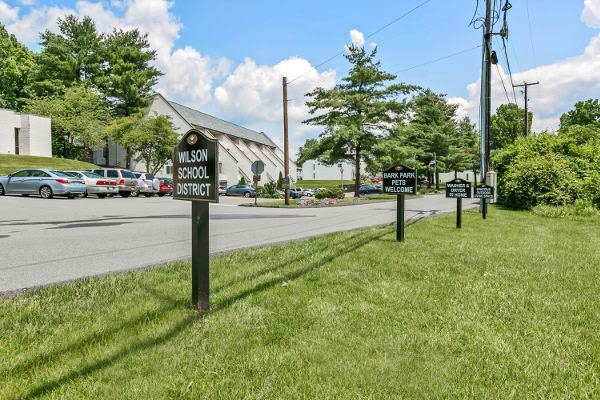 Spacious parking area at Lincoln Park Apartments & Townhomes in West Lawn, PA