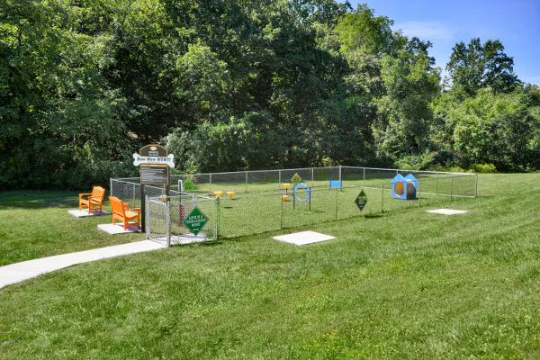 Unique dog park at Wedgewood Hills Apartment Homes in Harrisburg, PA