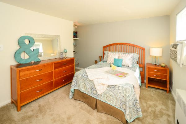 Beautiful bedroom at Wedgewood Hills Apartment Homes in Harrisburg, PA