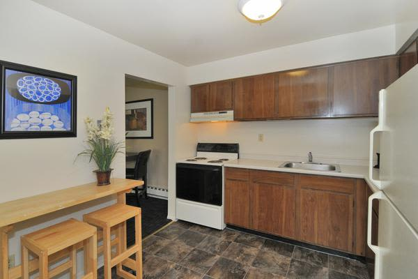 Spacious kitchen at Whitestone Village Apartment Homes in Allentown, PA