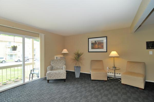 Renovated living room at Whitestone Village Apartment Homes in Allentown, PA