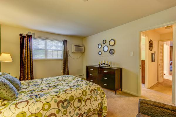 Luxury bedroom at Woodacres Apartment Homes in Claymont, DE