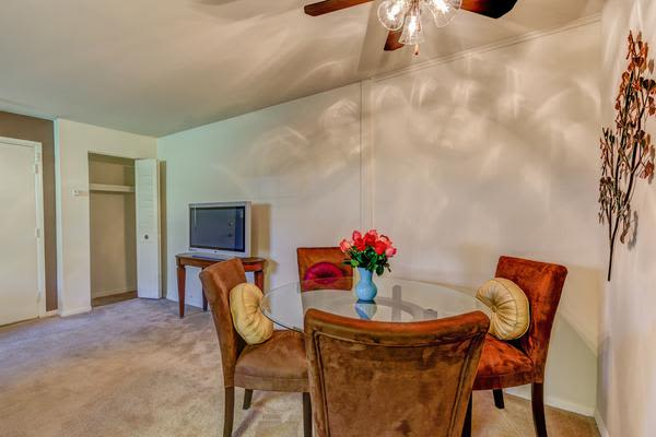 Cozy dining room at Woodacres Apartment Homes in Claymont, DE