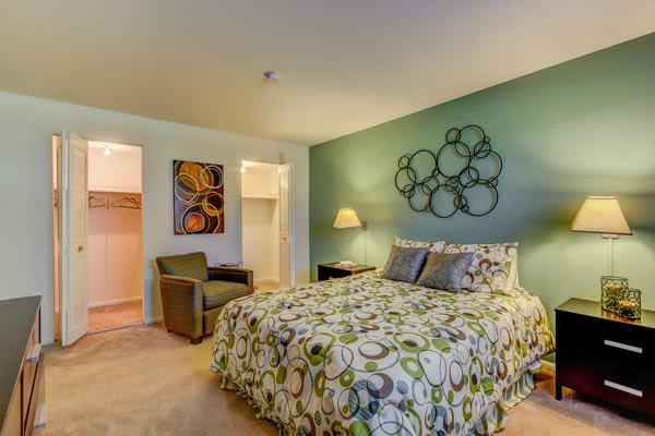 Spacious bedroom at Woodacres Apartment Homes in Claymont, DE