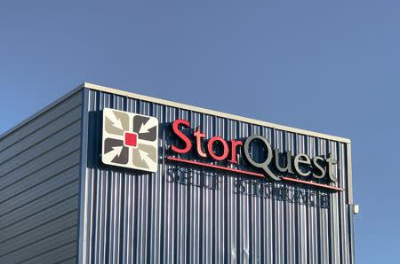Exterior building signage of StorQuest Self Storage