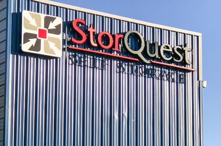 Exterior signage of StorQuest Self Storage