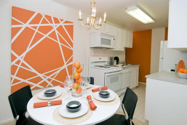 Beautiful dining room at Brookdale at Mark Center Apartment Homes in Alexandria, VA